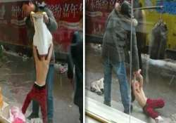 shocking pics chinese father drags daughter after stripping