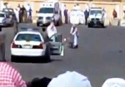 shocking footage of sudanese man publicly beheaded in saudi