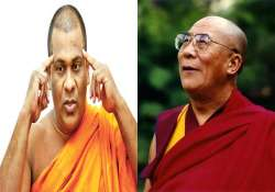 sri lankan monk rejects dalai lama as spiritual leader