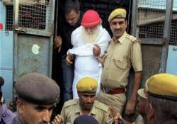 asaram gets ganga water for bathing arrested sewadars