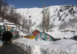 avalanche warning issued for snow bound areas of kashmir