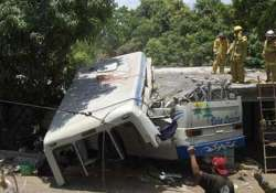 eight pilgrims killed as bus falls into river in maharashtra