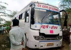 15 electrocuted in rajasthan bus mishap pm modi condoles