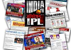 india tv sting news dominates all newspapers channels
