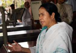 mamata accuses gjm of stalling development in the hills