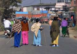 normal life hit in manipur by general strike curfew clamped