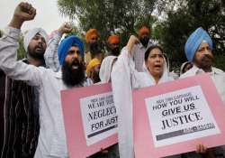 sikh groups protest rahul gandhi s remarks on 1984 riots