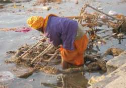 spitting in ganga could land you in jail for three days