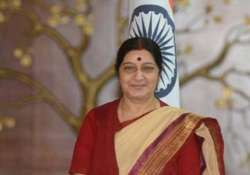 sushma swaraj on two day visit to dhaka teesta lba to be