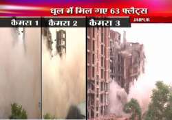9 storeyed building in jaipur demolished within 5 seconds