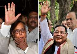 pranab disapproves of sangma s dumping ground remarks