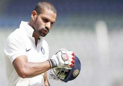 dhawan creates history as india take firm grip at 283 for