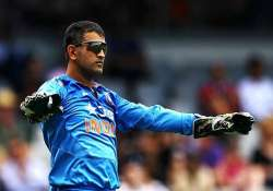 world cup 2015 dhoni fails to collect souvenir bail after