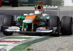 di resta earns four points for force india