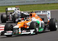 sutil 11th di resta 18th in hungarian gp qualifying