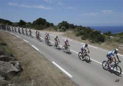 tour de france riders start on corsica