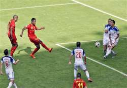 fifa world cup belgium beat russia by a late strike to