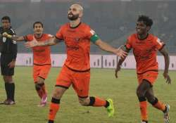 isl delhi dynamos thump mumbai city fc 4 1 move to fifth