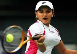 sania crashes out of french open olympic dream in tatters
