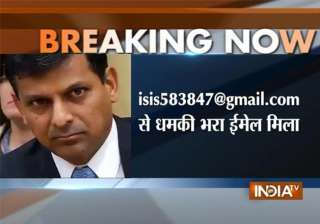 rbi governor raghuram rajan receives threat mail...