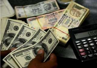 rupee gains 35 paise against dollar in early...