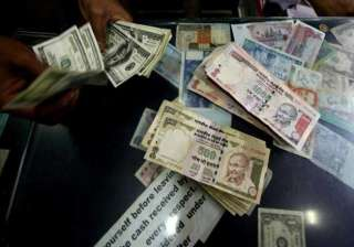 rupee drops to one week low of 63.41 vs dollar...