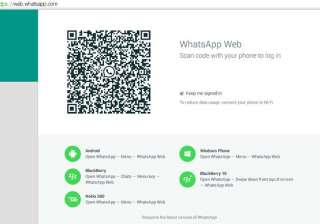 now use whatsapp from your web browser - India TV