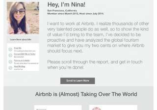 this woman s awesome resume impressed airbnb s...