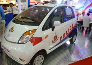 tata nano and aria unveiled as delhi police vans...