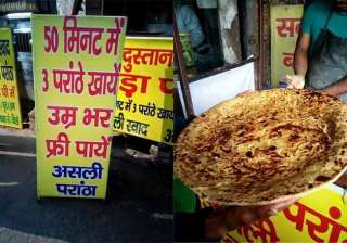 foodies challenge eat 3 paratha s and have it...