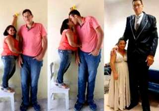 love story of a tall man and a very short lady -...