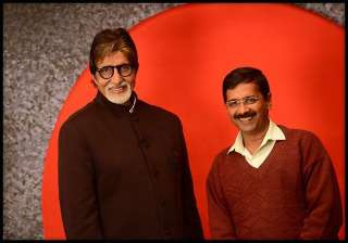 amitabh bachchan and arvind kejriwal come face to...