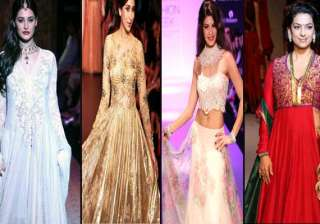 bollywood showstoppers at the lakme fashion week...