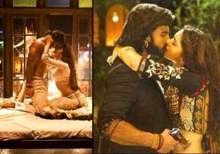 deepika and ranveer share passionate kisses in...