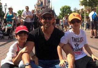 hrithik roshan s day out with kids hrehaan and...