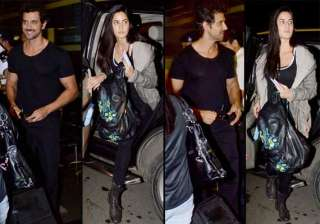 hrithik and katrina spotted at airport view pics...
