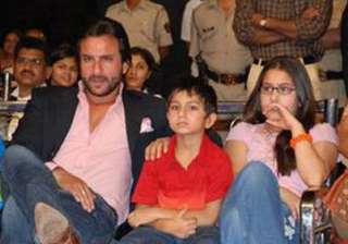 saif s kids turned back from mumbai airport -...