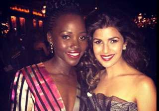 nimrat kaur poses with super inspiring lupita...