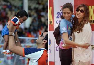 celebrity cricket league candid moments view pics...