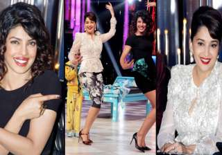 priyanka chopra makes madhuri dixit dance on the...