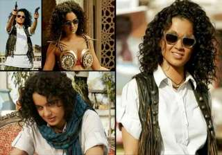 queen kangana ranaut turns lady dabangg in...