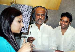 rajinikanth records a song in hindi - India TV
