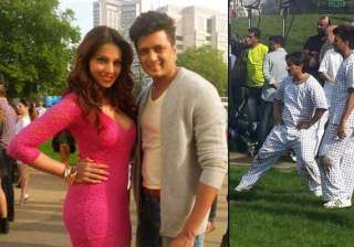 saif riteish bipasha spotted on the sets of...