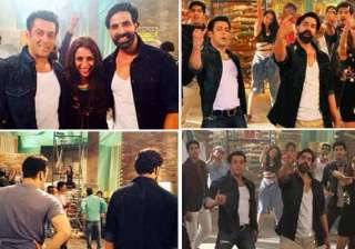 salman akshay groove to the tunes of honey singh...
