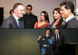 shah rukh khan dines with new zealand pm john key...