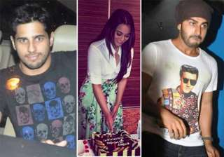 sonakshi sinha s birthday pics arjun sidharth and...