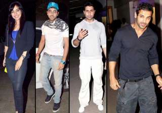 stars attend special screening of madras cafe...