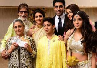 the complete bachchan family spotted at a wedding...