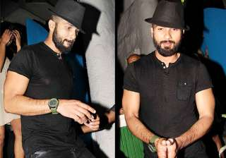 shahid gains weight tries to hide his bald look...