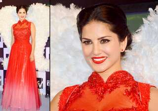 sexy sunny leone turns red hot at the launch of...